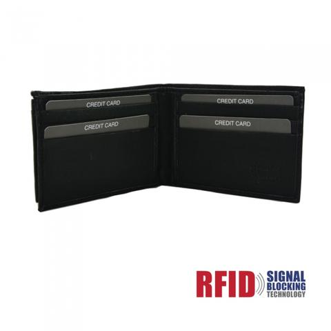 Portefeuille protection anti RFID double volet