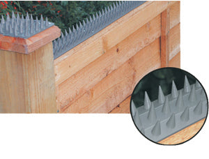 Rubans de pointes anti intrusion aspect métallique - par 10 - 450mm X 50 mm - TOTALEMENT LEGAL