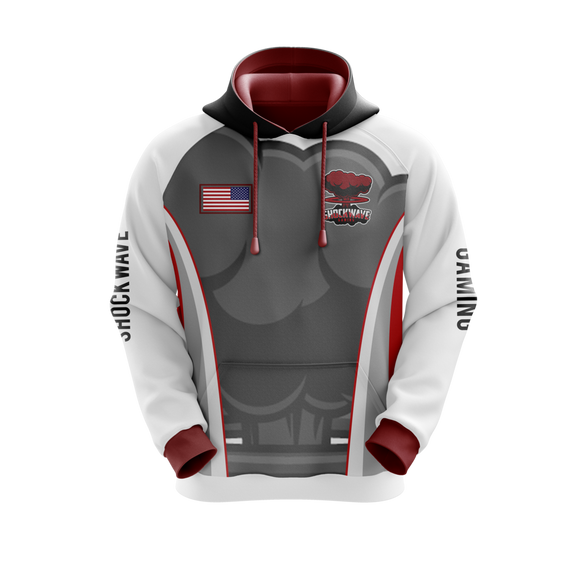 Shockwave Gaming Hoodie (White)