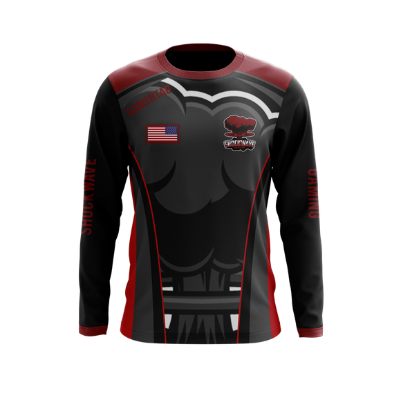 Shockwave Gaming Long-Sleeve Jersey (Black)