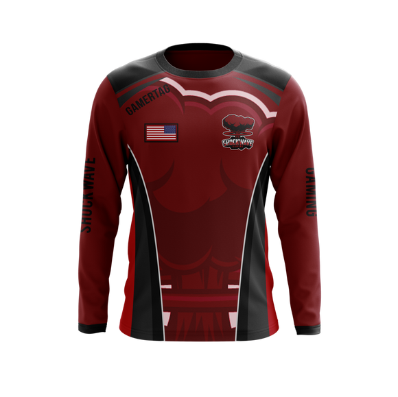 Shockwave Gaming Long-Sleeve Jerseys (Red)
