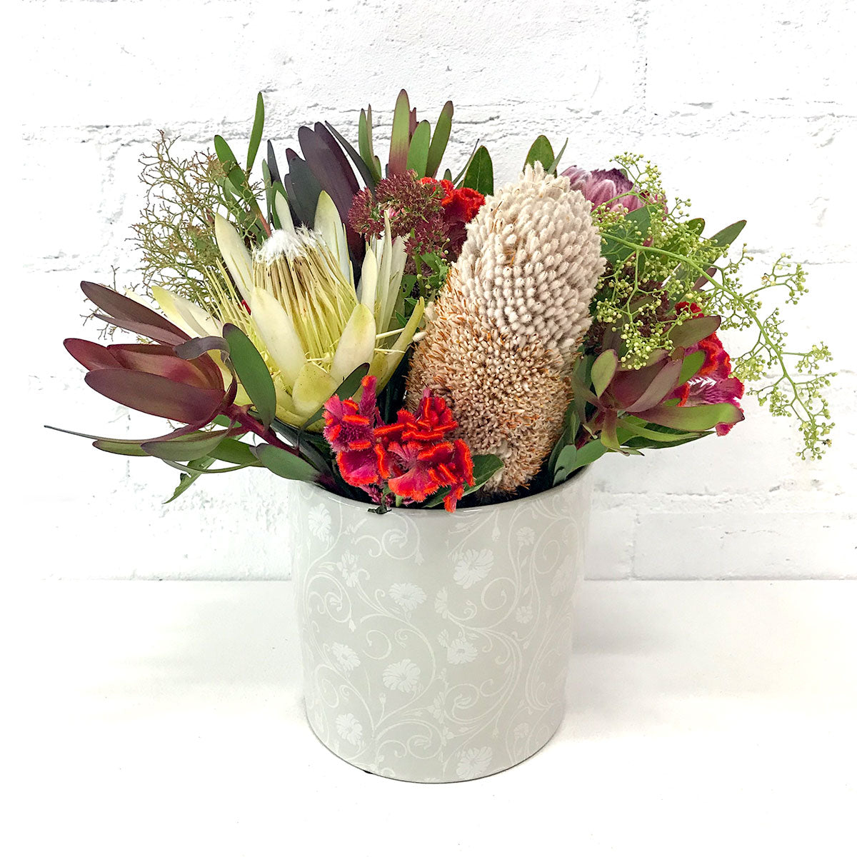 Australian Native Flowers Ceramic Vase