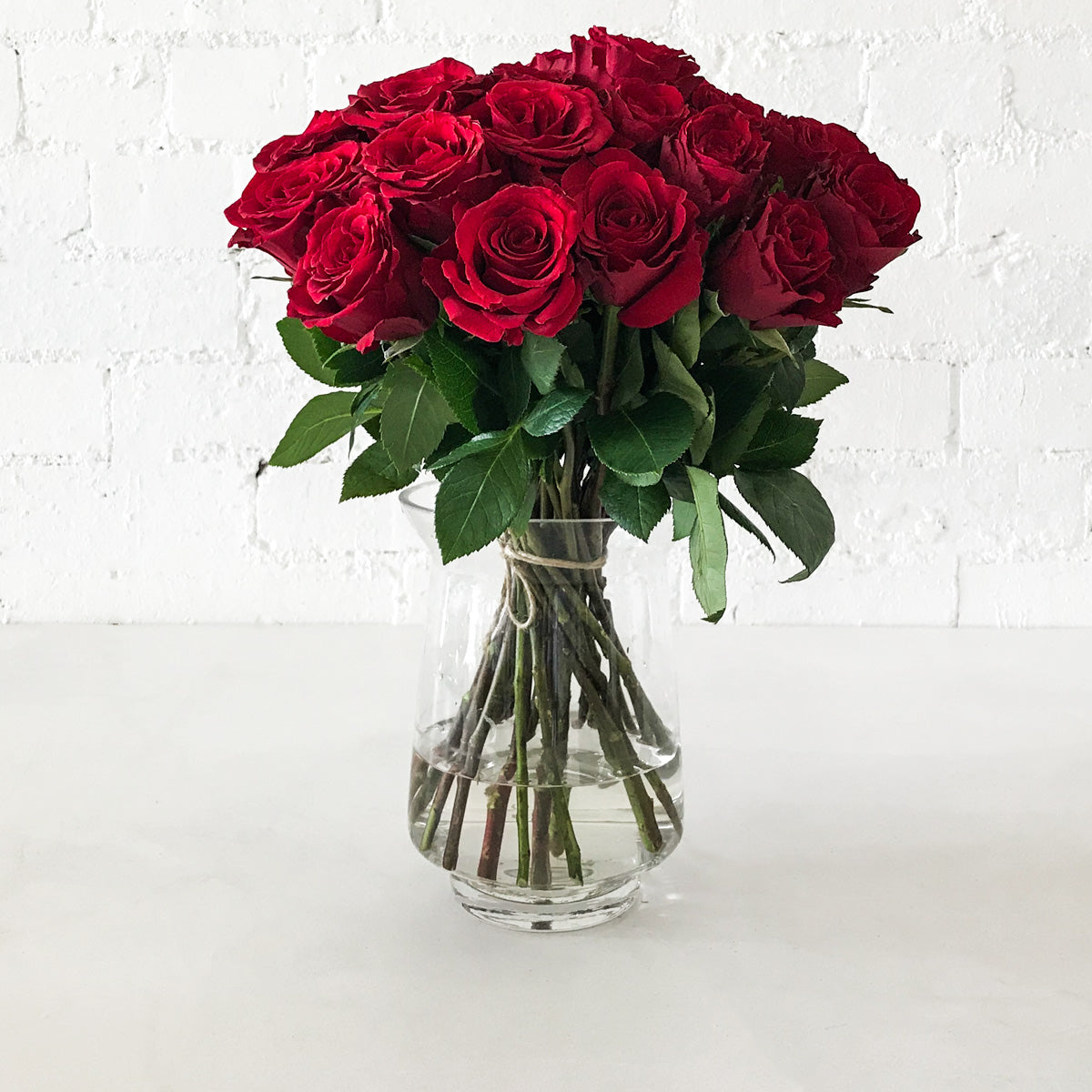 Red Roses Long Gift Box- 24 Long Stems