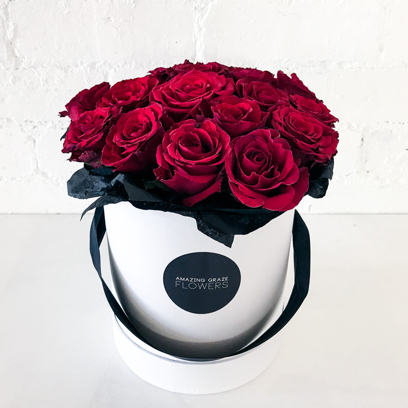 Buy Red Roses Hat Box for Valentines Day