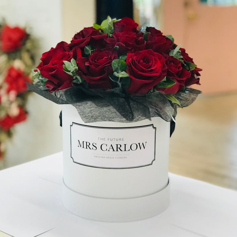 Customised Rose Hat Box