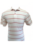Short Sleeve Orange Stripe Golf Shirt