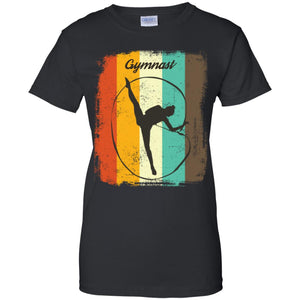 Gymnastics Retro 70s Vintage Rhythmic Women T-Shirt
