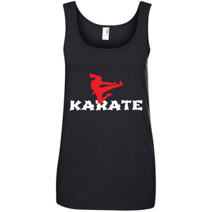 Karate Girl Jumping Side Kick Martial Women T-Shirt