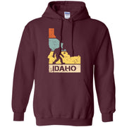 Funny Bigfoot Idaho T-shirt Love Idaho Men Hoodie