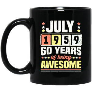 July 1959 60th Birthday Sixty Coffee Mug, Tea Mug
