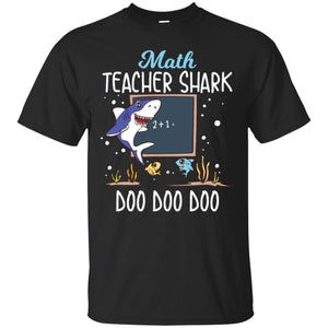 Math Teacher Shark Doo Doo Men T-shirt