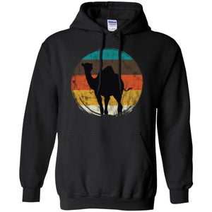 Distressed Circle Retro Graphic Desert Camel Art Men T-shirt