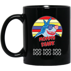 Funny Mommy Shark Doo Doo Coffee Mug, Tea Mug