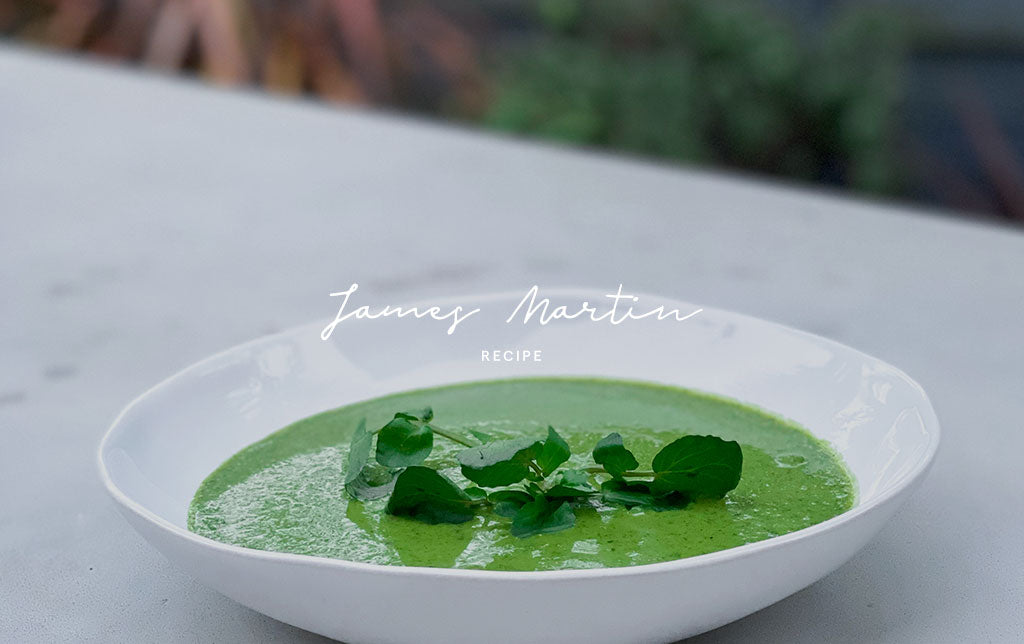 Pea and watercress soup by James Martin
