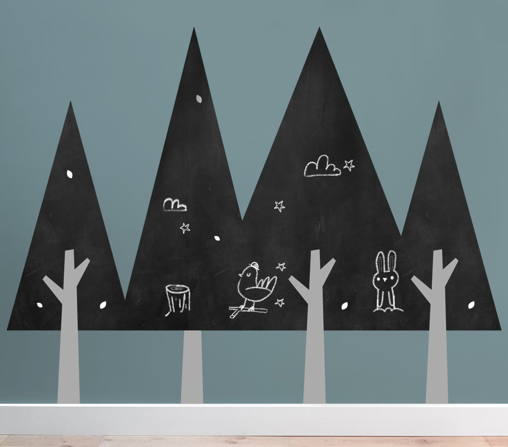 Forest chalkboard walls