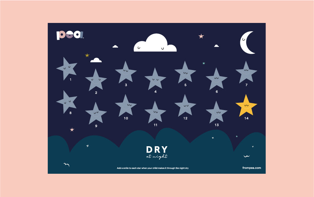 Dry at night reward chart - 14 nights