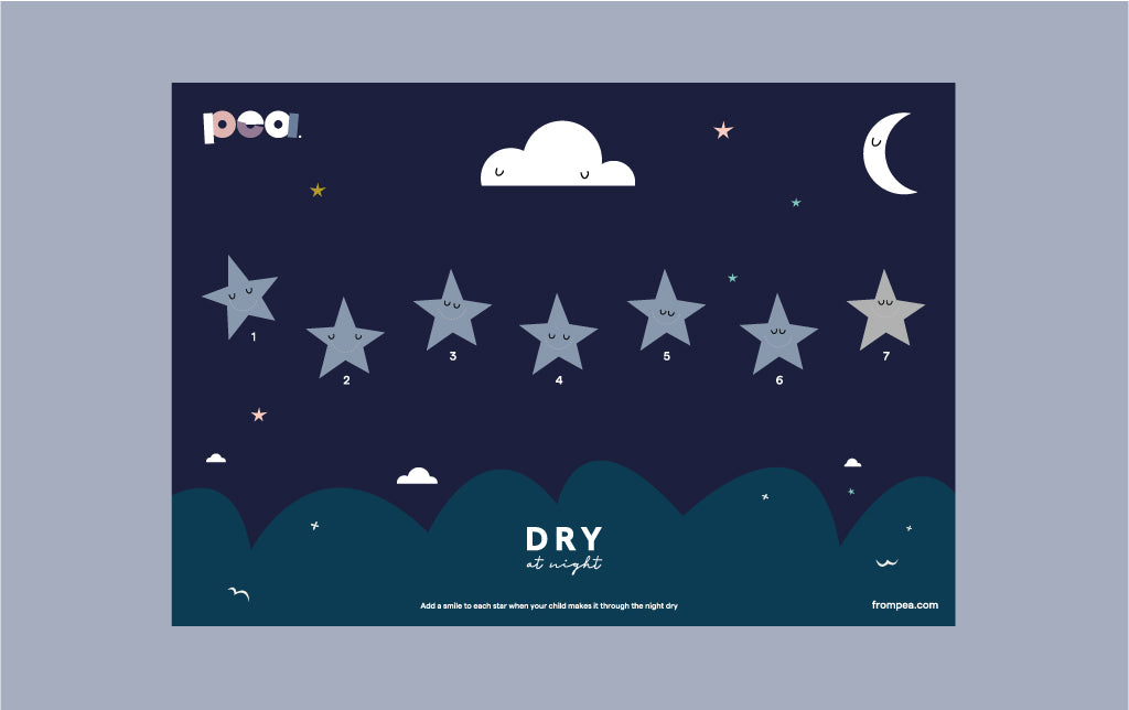 Dry at night reward chart - 7 nights