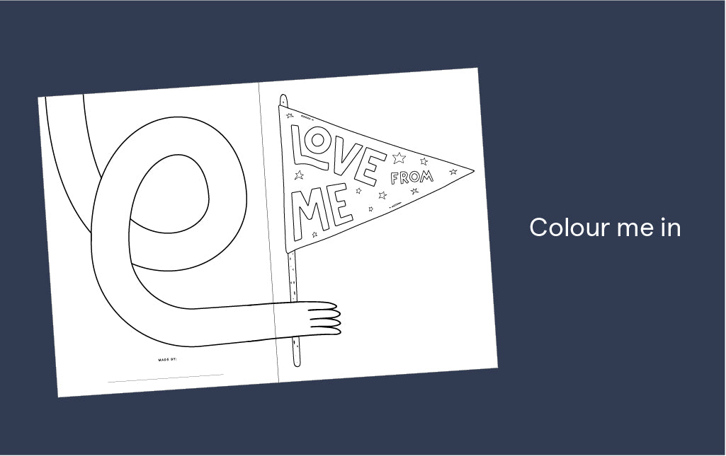 Colour-in Father's day card