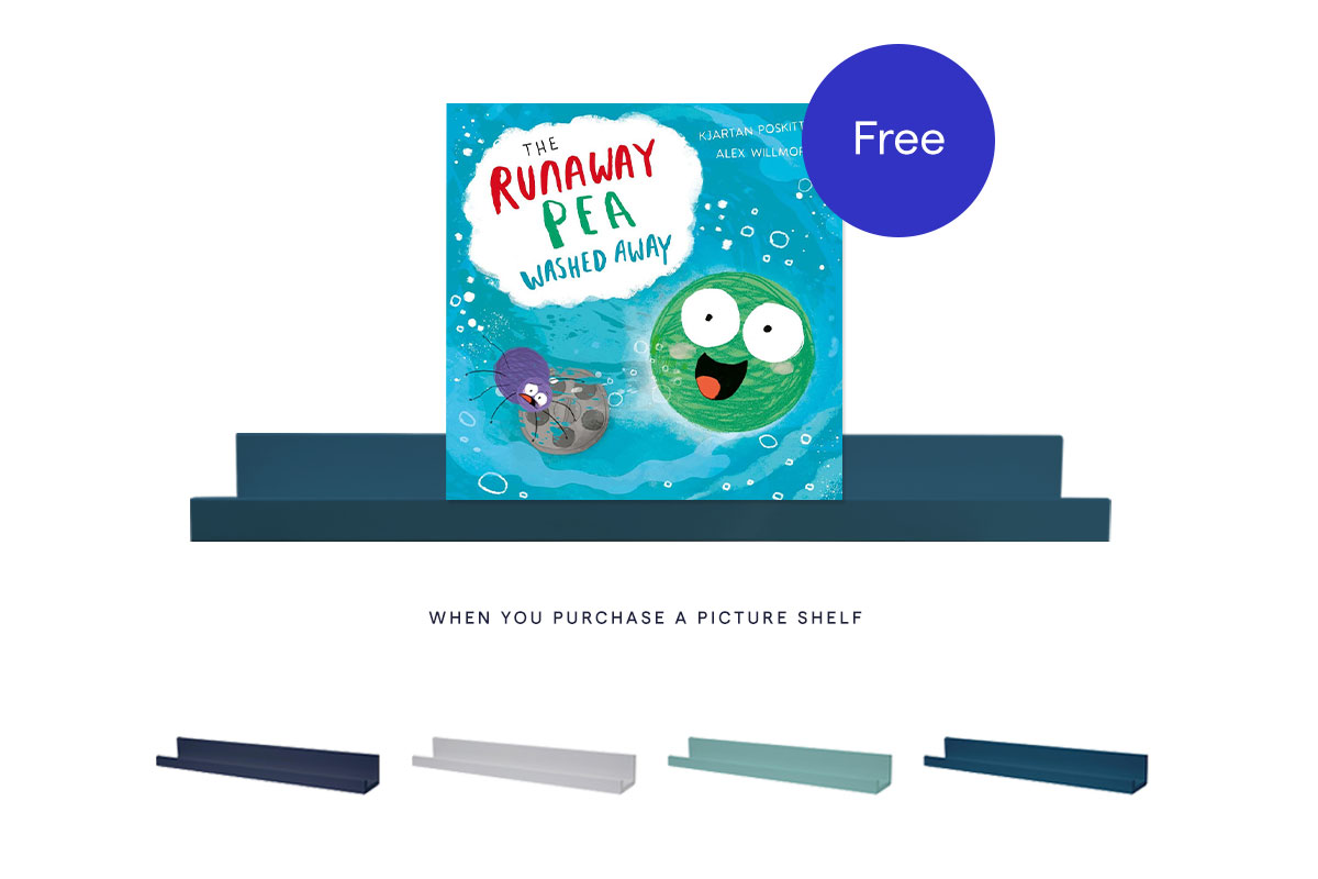 FREE copy of The Runaway Pea Washed Away