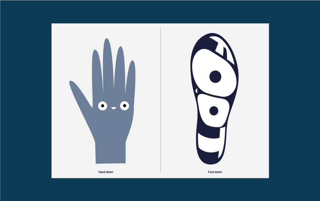 Hand and feet template - Great Family days in