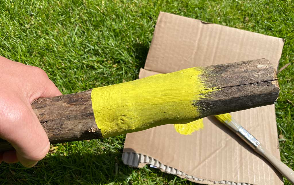 Paint your sticks yellow
