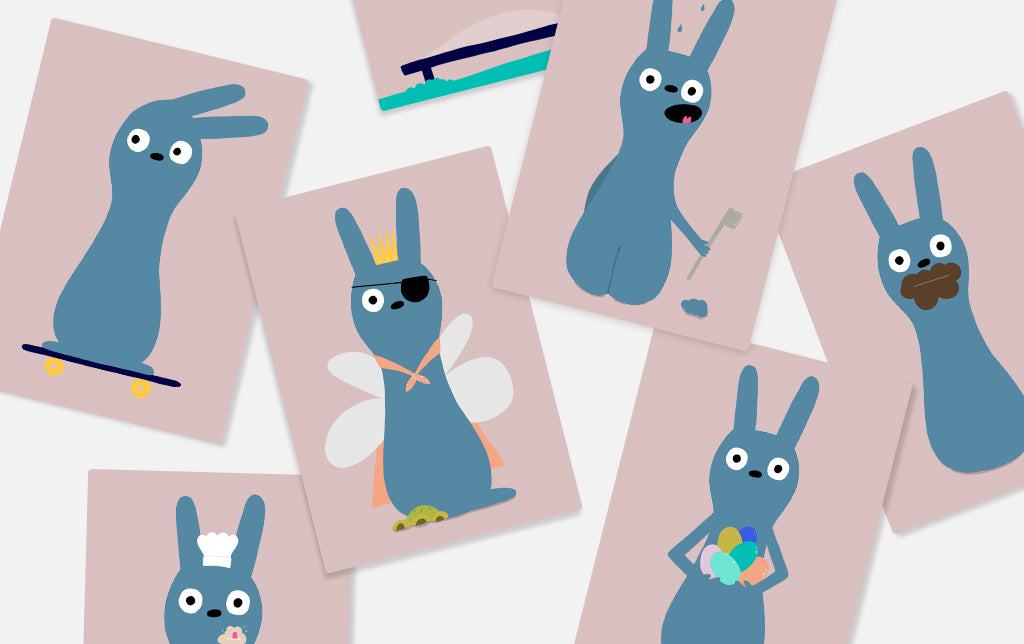 Easter Bunny Snap card game