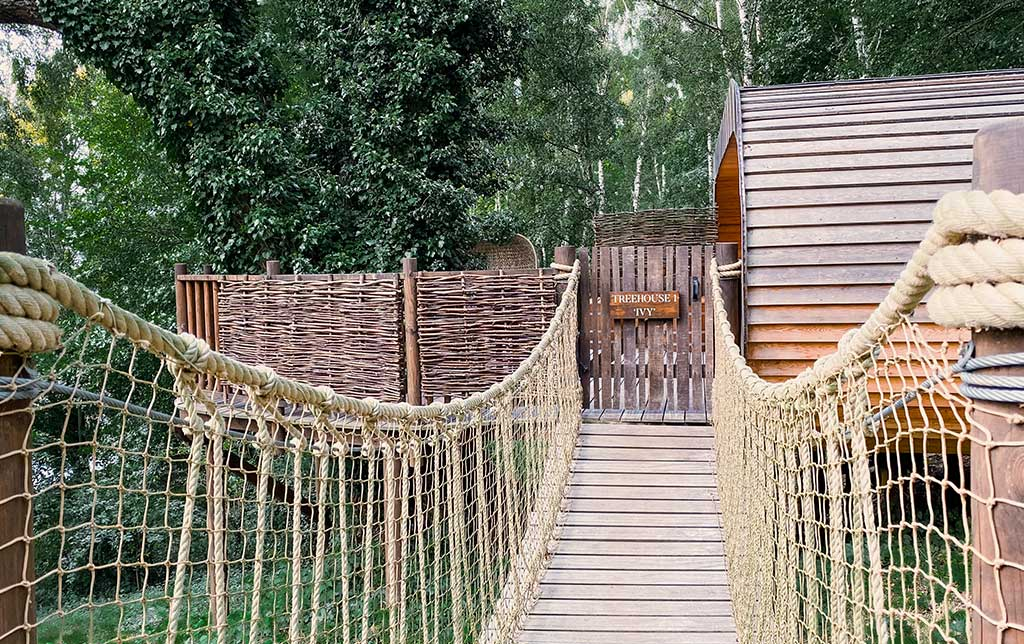 Rope bridge to the Treehouses
