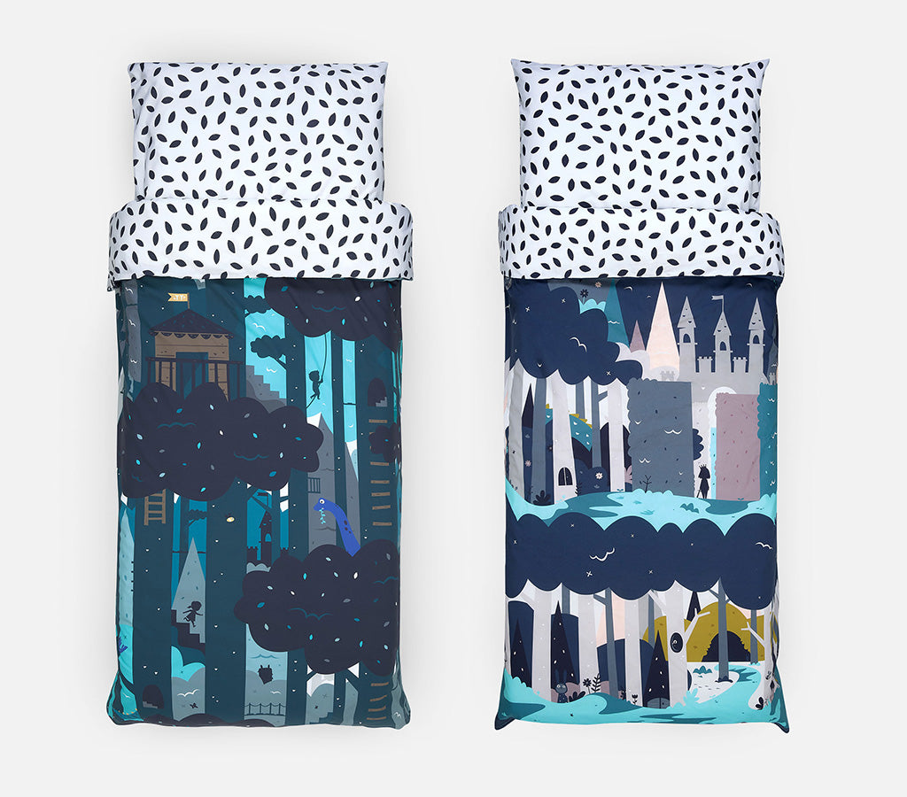 Single and Cot bedding for children - Treetops and Enchanted Forest
