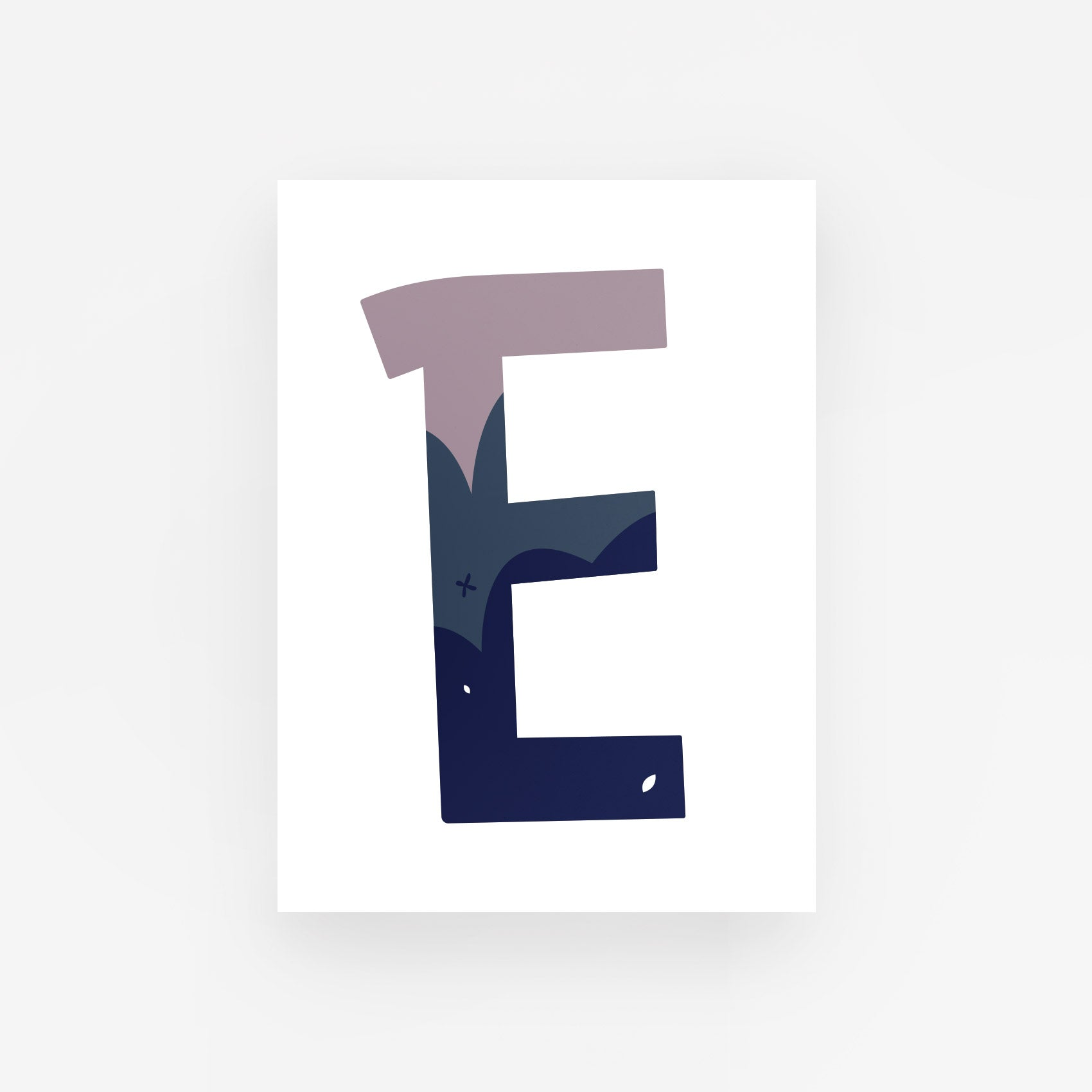 Personalised letter print poster - Purple and Blue