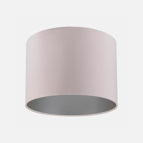Dusky Pink and Grey drum lampshade from Pea