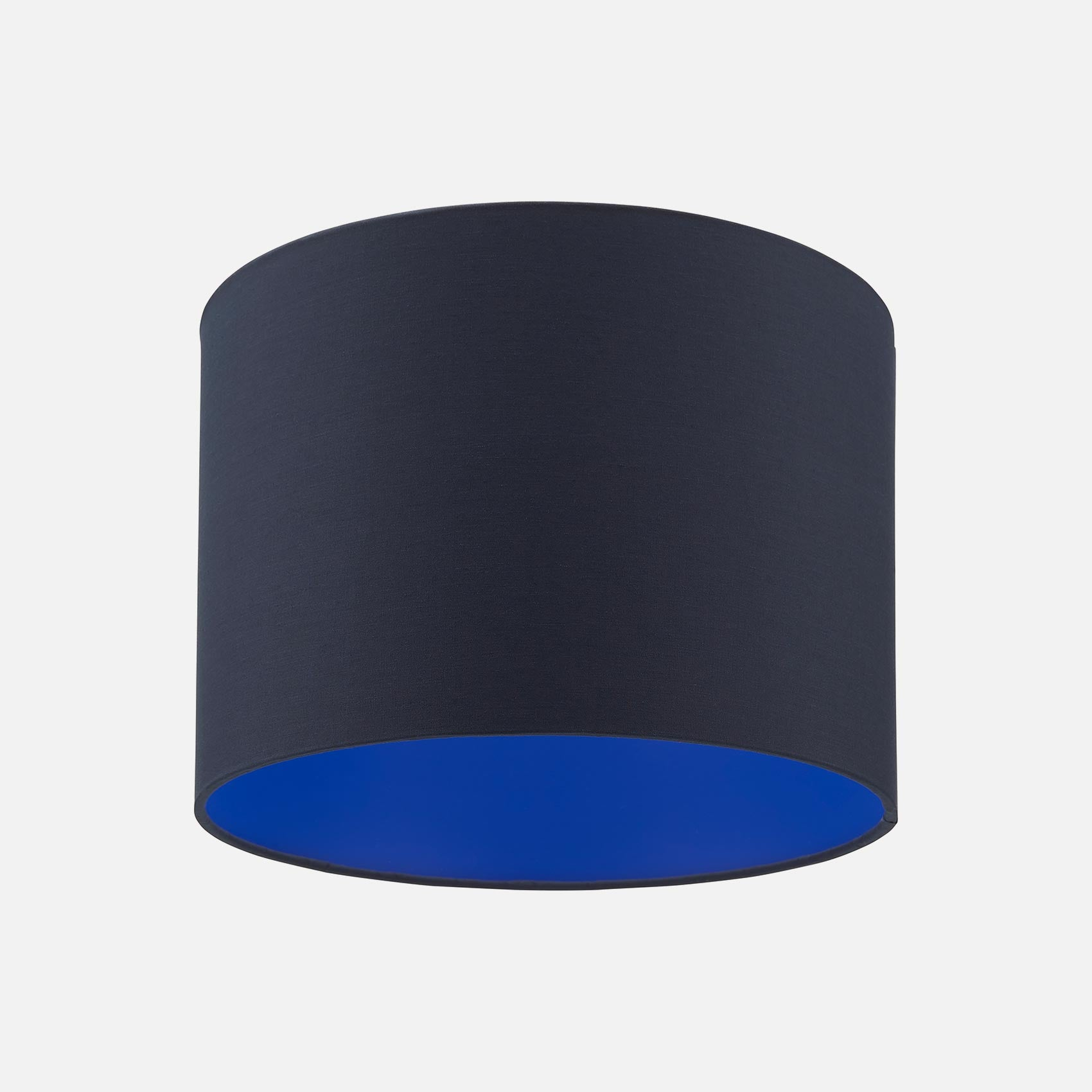 Drum Lighting Shade Navy And Electric Blue Frompea