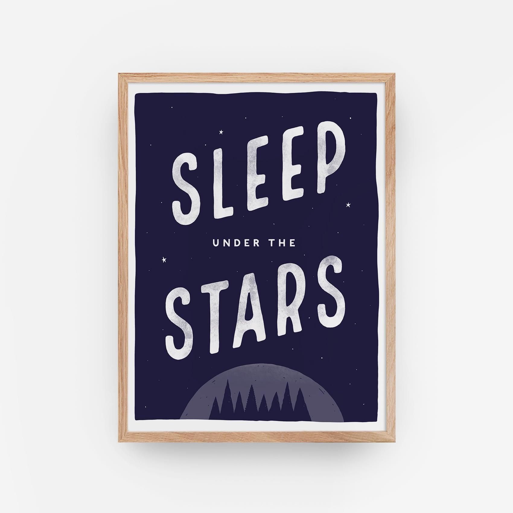 Sleep under the stars wall print