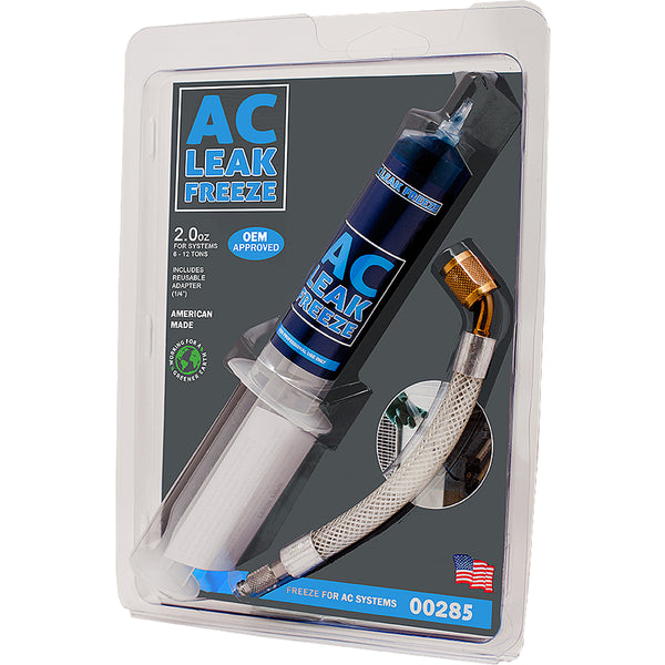 AC Leak Freeze Refrigerant Line Sealant – 15 oz. Cartridge with Adapter Hose