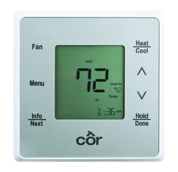 diy-appliance-hvac-parts,Côr 5 Thermostat, Programmable, Heat Pump & Air Conditioning,Carrier,Thermostat