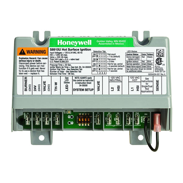 Honeywell S8910U3000/U - Universal Hot Surface Ignition Module