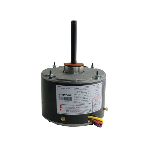 diy-appliance-hvac-parts,PROTECH 51-23055-11 - Condenser Motor - 1/5 HP 208-230/1/60 (1075 rpm/1 speed),Gemaire,condenser motor
