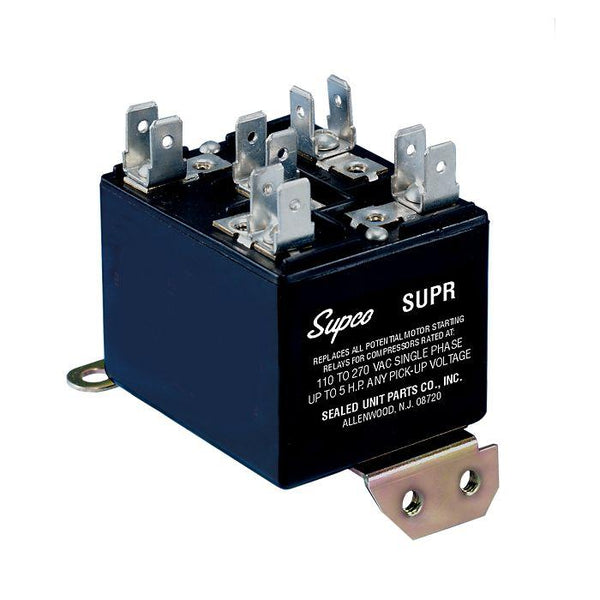diy-appliance-hvac-parts,Supco - SUPR - Universal Potential Relay 30 Amp Contacts,Baker Distributing,Relay