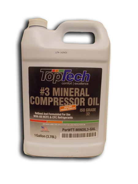 diy-appliance-hvac-parts,TopTech - TT-MINOIL3-GAL 150 Viscosity Mineral Oil 1 gal.,Carrier,lubricant