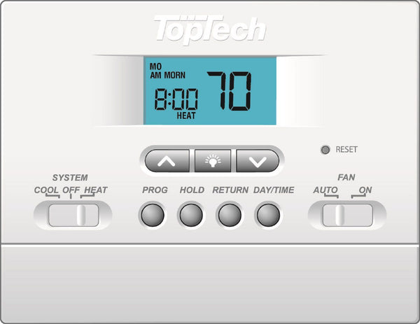 diy-appliance-hvac-parts,TopTech - TT-P-411 5-2 Day Programmable Thermostat 1 Heat/1 Cool,Carrier,Thermostat