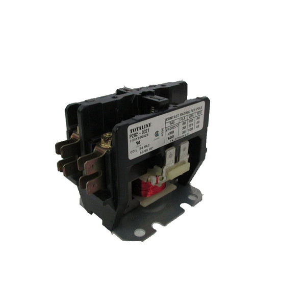 diy-appliance-hvac-parts,Totaline - P282-0321 Contactor Two Pole 30 Amp Screw TerminaLS Tube 24 VAC,Carrier,Contactor