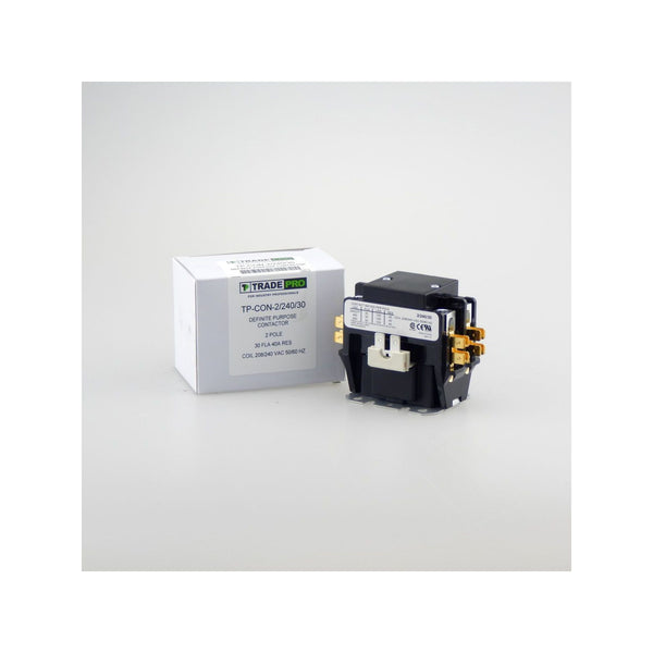 diy-appliance-hvac-parts,TRADEPRO TP-CON-2/240/30 - Contactor - 2 Pole, 240 VAC, 30 Amp,Gemaire,Contactor