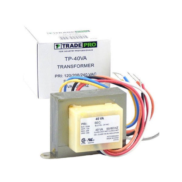 diy-appliance-hvac-parts,TRADEPRO® TP-40VA - Transformer, 120-208-240/24 VA & 40 VA With Wire Leads & Quick Connect,Gemaire,Trasformers