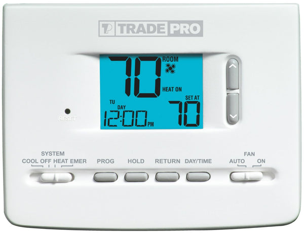 TRADEPRO® - TP-P-521 5-2 Day Programmable Thermostat 2H/1C