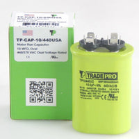 diy-appliance-hvac-parts,TRADEPRO - TP-CAP-10/440USA 10 MFD 440/370V Oval Capacitor (Made in USA),Carrier,Capacitor