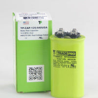 diy-appliance-hvac-parts,TRADEPRO- TP-CAP-12.5/440USA 12.5 MFD 440/370V Oval Capacitor (Made in USA),Carrier,Capacitor