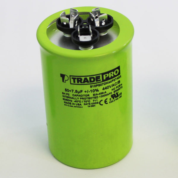 TRADEPRO - TP-CAP-35/5/440USA-R 35/5 MFD 440/370V Round Capacitor (Made in USA)