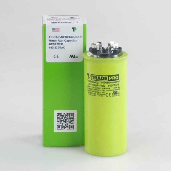 diy-appliance-hvac-parts,TRADEPRO - TP-CAP-40/10/440USA-R 40/10 MFD 440/370V Round Capacitor (Made in USA),Carrier,Capacitor