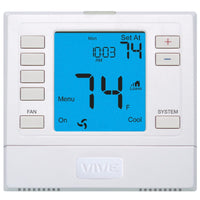 Non-Programmable Remote Sensor Capable Thermostat 3H/2C Universal - 6 sq. in. Display