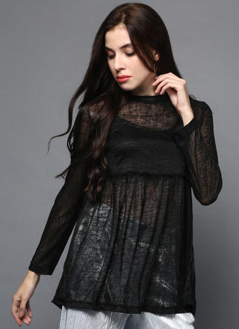 Black Sheer Tunic