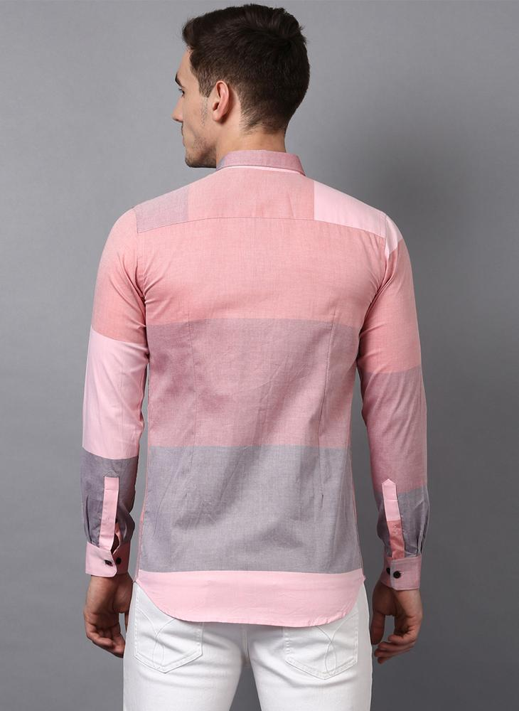 Pastel Color Blocked Shirt
